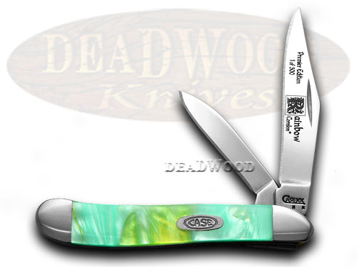Case xx Rainbow Genuine Corelon 1/500 Peanut Pocket Knife Knives