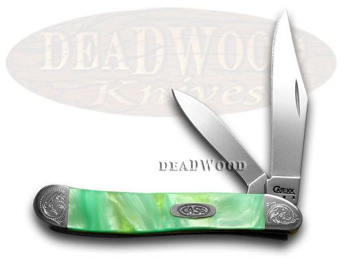 Case xx Engraved Bolster Series Genuine Rainbow Corelon Peanut Pocket Knives