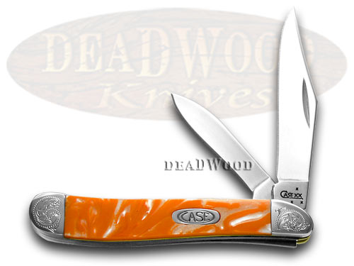 Case xx Engraved Bolster Series Tennessee Orange Corelon Peanut Pocket Knives