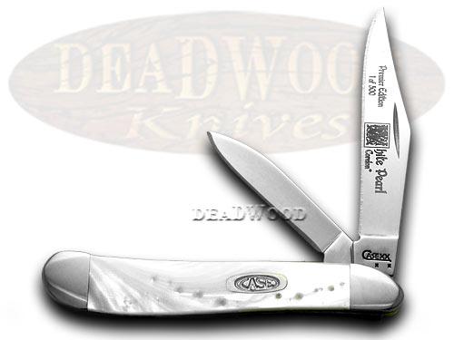Case xx White Pearl Genuine Corelon 1/500 Peanut Pocket Knife Knives