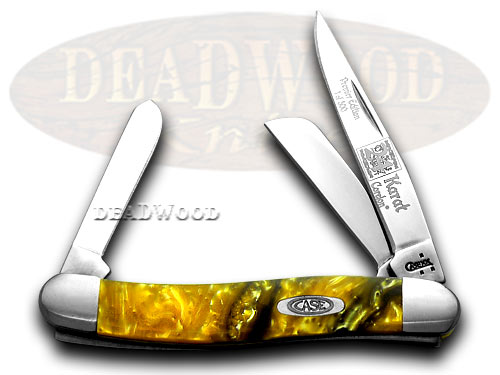 Case xx 24K Gold Genuine Corelon 1/500 Stockman Pocket Knife Knives