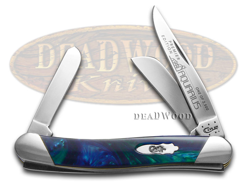 Case xx Slant Series Aquarius Corelon Medium Stockman 1/2500 Pocket Knife Knives