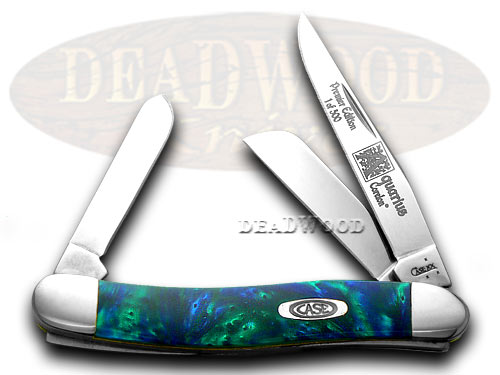 Case xx Aquarius Genuine Corelon 1/500 Stockman Pocket Knife Knives