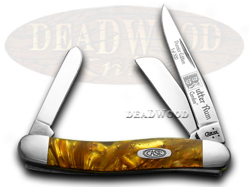 Case xx Butter Rum Genuine Corelon 1/500 Stockman Pocket Knife Knives
