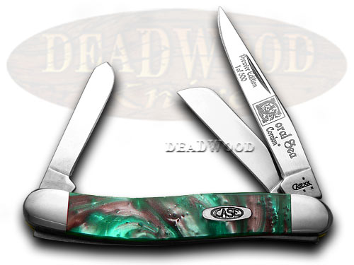 Case xx Coral Sea Genuine Corelon 1/500 Stockman Pocket Knife Knives
