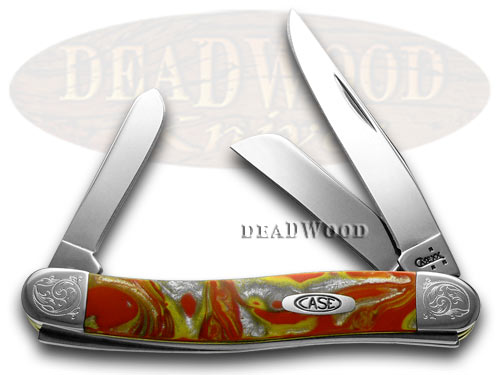 Case xx Engraved Bolster Series Genuine Fire Box Corelon Stockman Pocket Knife