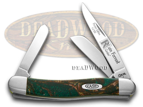 Case xx Rain Forrest Genuine Corelon Stockman 1/500 Pocket Knife Knives