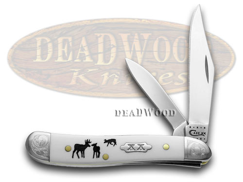 Case xx White Delrin Rut Peanut 1/500 Pocket Knife Knives