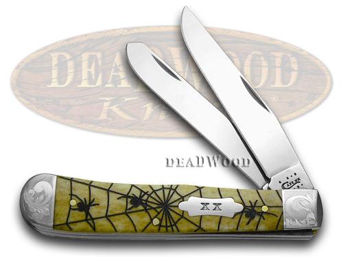 Case xx Antique Woodland Spiders Trapper 1/500 Pocket Knife Knives