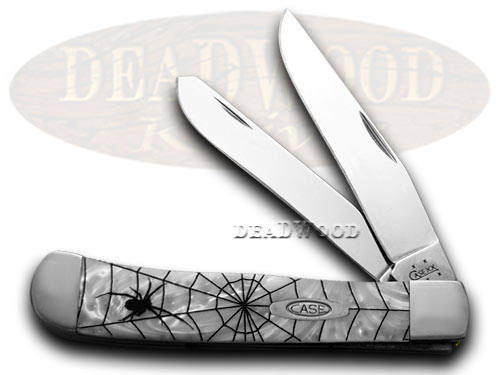 Case xx Black Widow White Pearl Trapper 1/800 Pocket Knife Knives