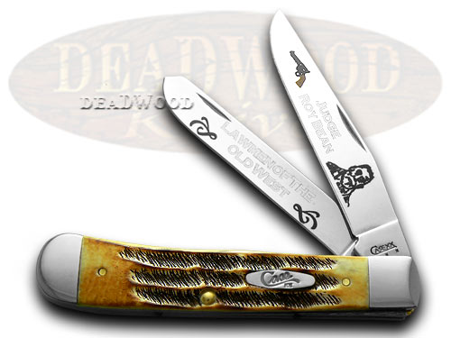 Case xx Judge Roy Bean 1/600 Lawmen Trapper Pocket Knife Knives