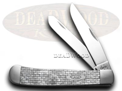 Case xx Collectors Edt 1/600 Brick White Pearl Trapper Pocket Knife Knives