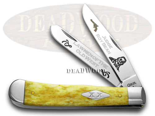 Case xx Collector's Judge Roy Bean 1/500 Antique Bone Trapper Pocket Knife Knives