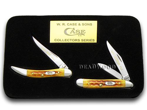 Case xx Father Son Harvest Orange 1/2500 Peanut & Toothpick Pocket Knives