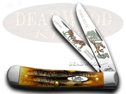 Case xx The Rut Bone Stag Trapper 1/600 Pocket Knives