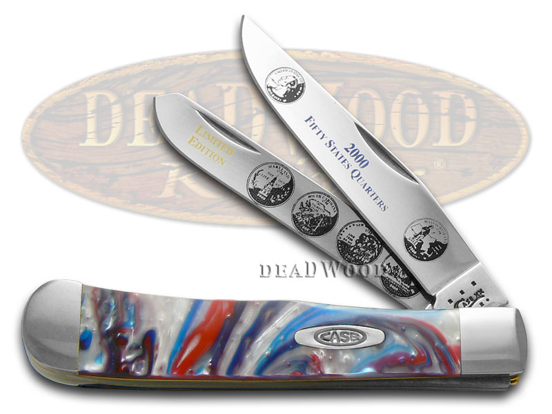 Case xx 2000 State Quarters Series Trapper 1/3000 Stainless Pocket Knife Set