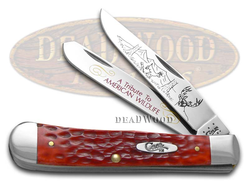 Case xx American Wildlife Tribute Red Bone Trapper Stainless Pocket Knife Knives