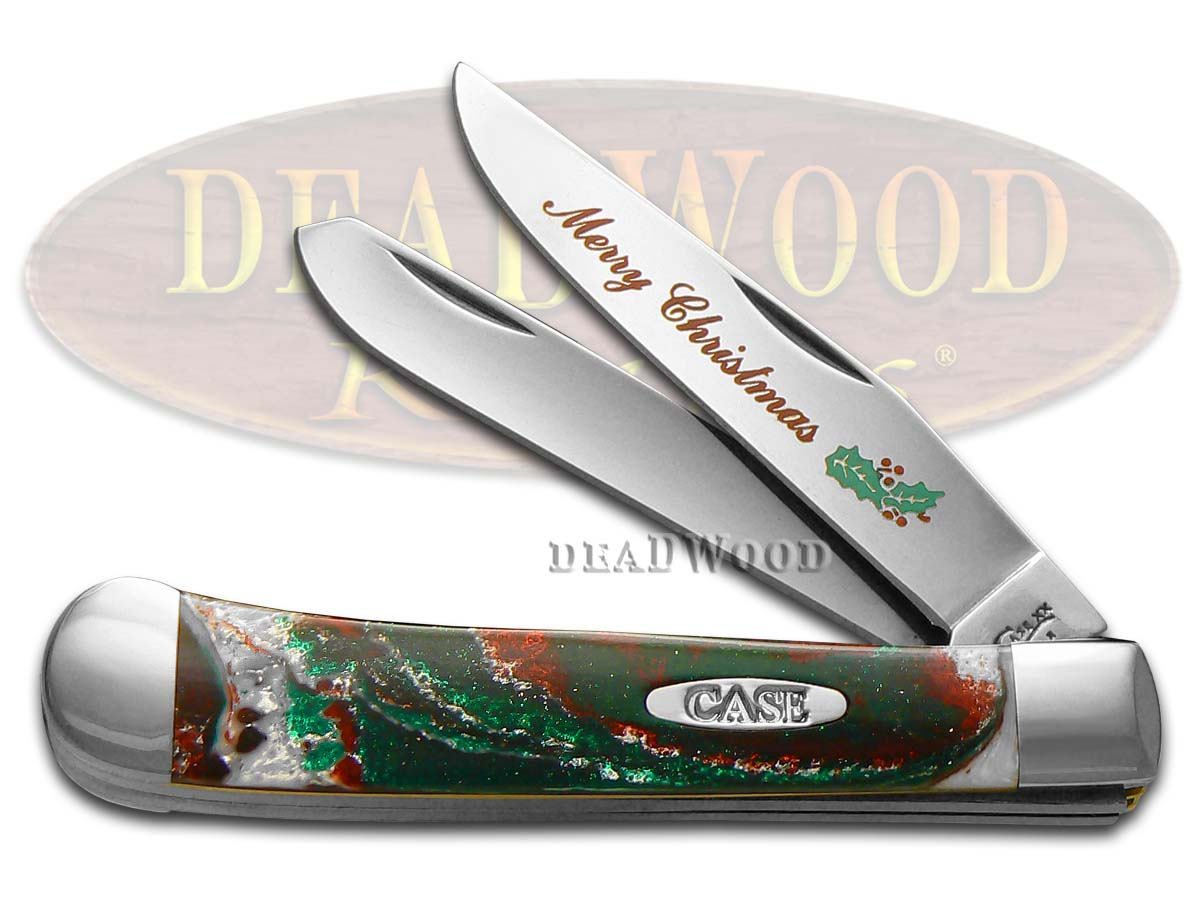 Case xx Merry Christmas Corelon Trapper 1/500 Stainless Pocket Knife Knives