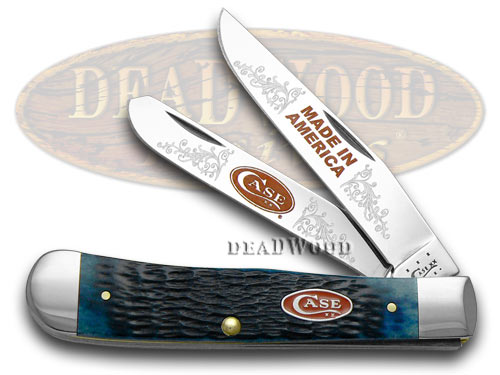 Case xx Jigged Blue Bone Made in America 1/600 Trapper Limited Edition Pocket Knife Knives