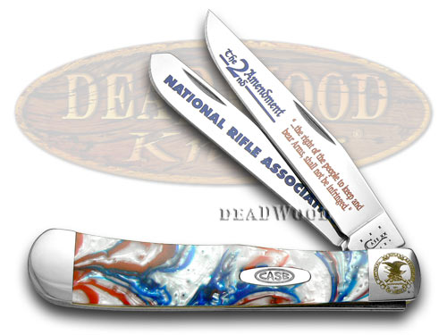 Case xx National Rifle Association NRA Star Spangled Banner Corelon Trapper Pocket Knife Knives