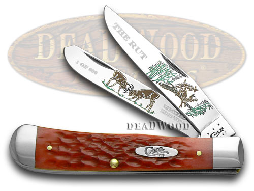 Case xx The Rut Red Jigged Bone 1/600 Trapper Pocket Knife Knives