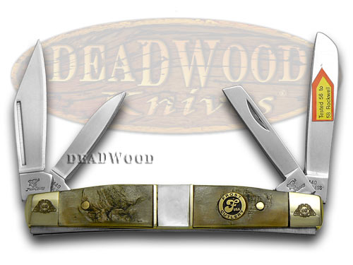 Frost Family 40th Anniversary Ram Horn and Mother Of Pearl 1/600 Congress Pocket Knife Knives