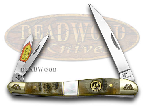 Frost Family 40th Anniversary Ram Horn Mother Of Pearl 1/600 Wharncliffe Whittler Pocket Knives