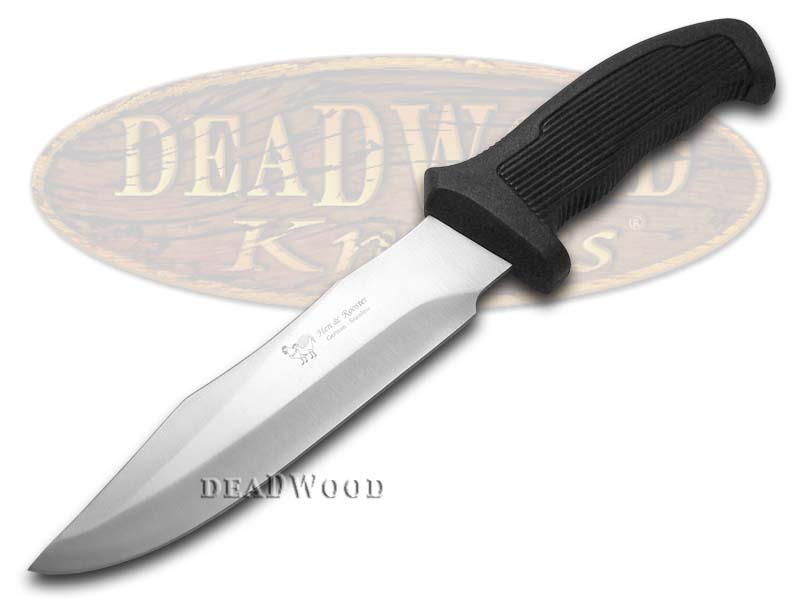 Hen & Rooster Black Synthetic Fixed Blade Hunter Stainless Knife Knives