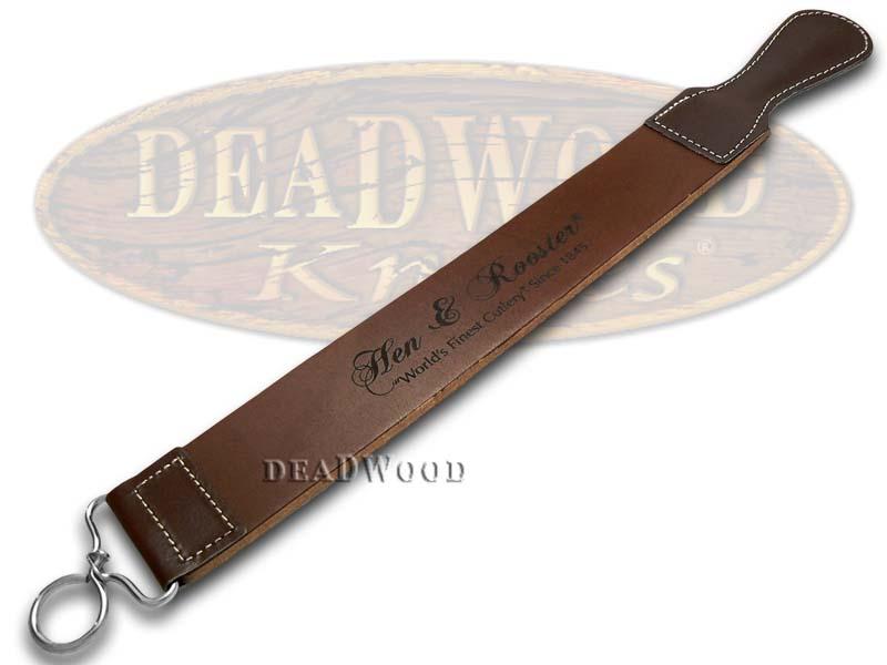 Hen & Rooster Dark Brown Leather Razor Strap for Straight Razors
