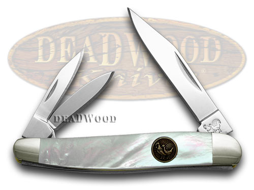 Hen & Rooster Mother of Pearl Whittler Pocket Knife Knives