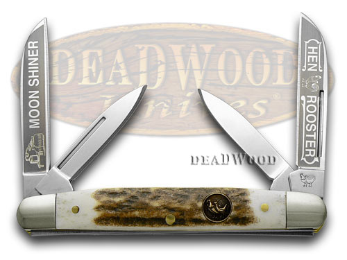 Hen & Rooster Deer Stag Moon Shiner Congress Pocket Knife Knives