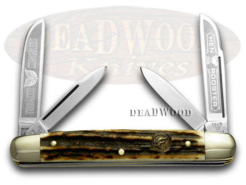 Hen & Rooster Stag Tobacco Congress Pocket Knife Knives