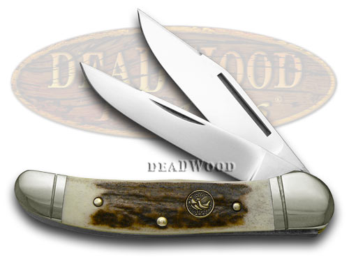 Hen & Rooster Genuine Stag Copperhead Pocket Knife Knives
