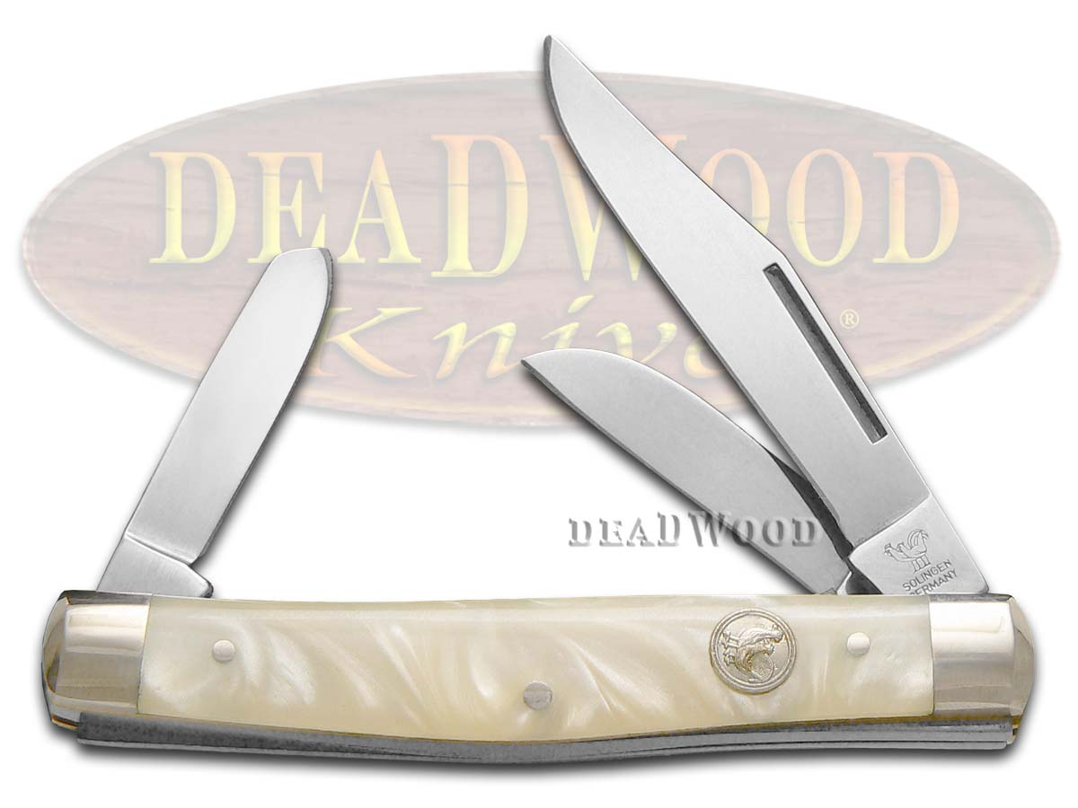 Hen & Rooster Cracked Ice Celluloid Stockman Pocket Knife Knives