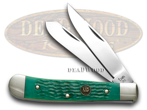 Hen & Rooster Green Pickbone Trapper Pocket Knife Knives