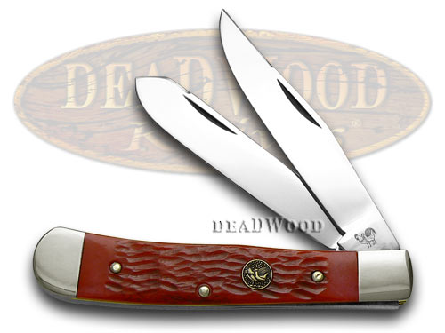 Hen & Rooster Red Pickbone Trapper Pocket Knife Knives
