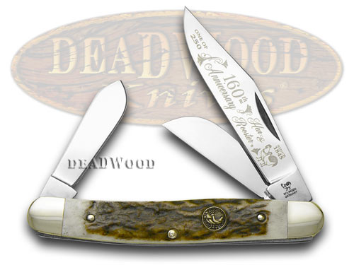 Hen & Rooster Genuine Deer Stag 1/250 Anniversary Stockman Pocket Knife Knives