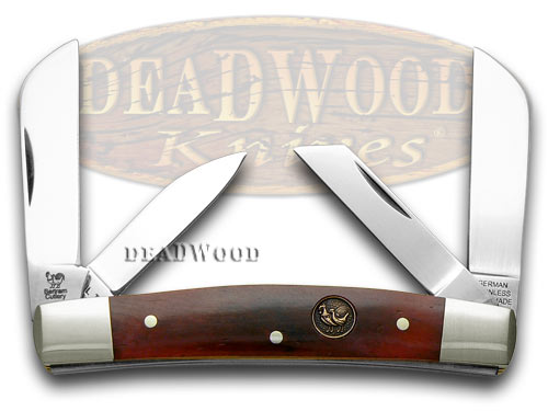Hen & Rooster Brown Bone Congress Pocket Knife Knives