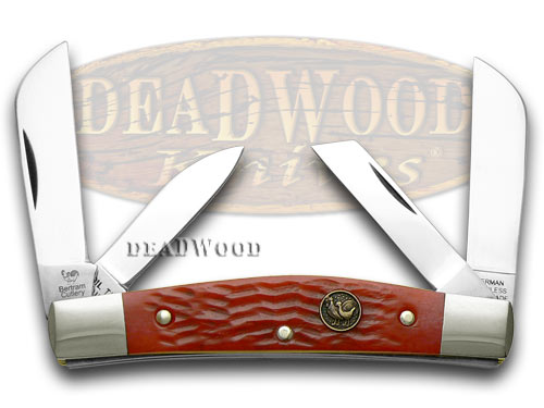 Hen & Rooster Red Pickbone Congress Pocket Knife Knives