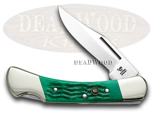 Hen & Rooster Green Pick Bone Lockback Pocket Knife Knives