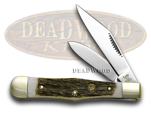 Hen & Rooster Genuine Deer Stag Mini Coke Bottle Pocket Knife Knives