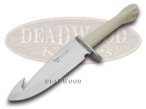 Hen & Rooster Deer Bone Joint Guthook Fixed Blade Knife Knives