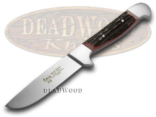 Hen & Rooster Genuine Red Deer Stag 1/200 Hunter Knife Knives