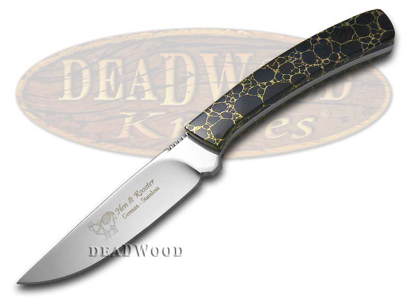 Hen & Rooster PAINTED PONY Edition Black Matrix Fixed Blade Hunter 1/100 Stainless Knife