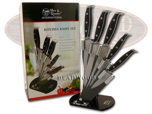 Hen & Rooster International 5 Piece Composite ABS Kitchen Knife Knives Set