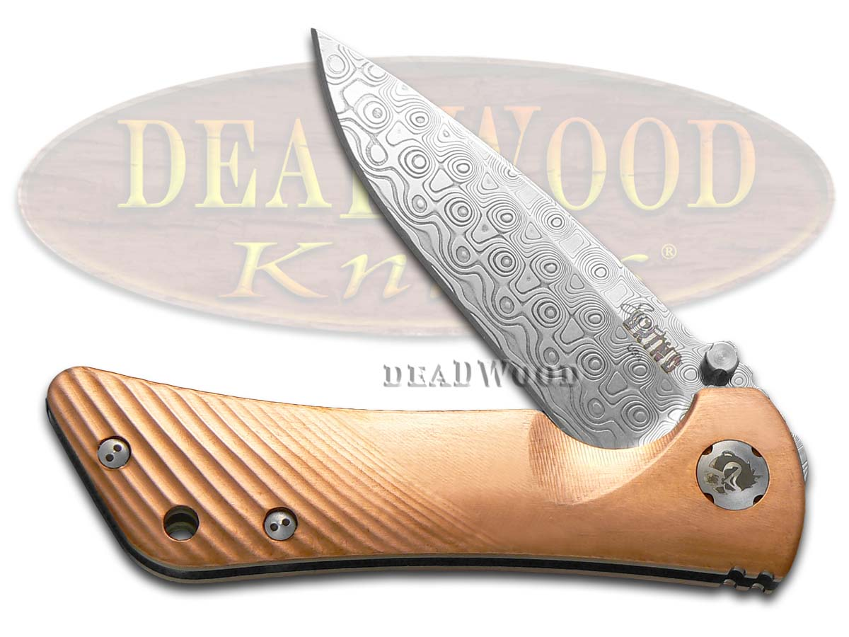 Southern Grind Copper Damascus Spider Monkey Stainless Pocket Knife Knives