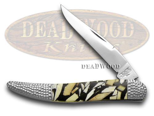 Schatt & Morgan Genuine Mammoth Ivory 1/50 Toothpick Pocket Knife Knives