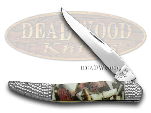 Schatt & Morgan Deer Stag and White Pearl 1/50 Toothpick Pocket Knife Knives