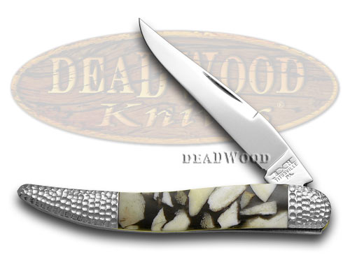 Schatt & Morgan Deer Stag and Black Pearl 1/50 Toothpick Pocket Knife Knives