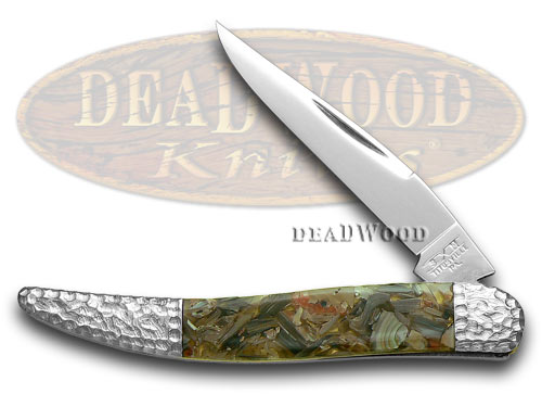 Schatt & Morgan Genuine Chipped Abalone Toothpick Pocket Knife Knives